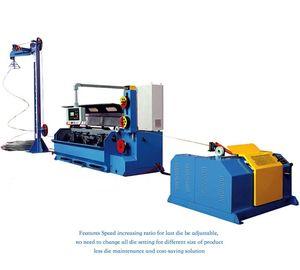 China AluminIum Rod Drawing Machine Single Spooler / Double Spooler Down Coiler Options supplier