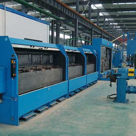 China Double Wires Copper Wire Drawing Machine Sliding Heavy Duty With No Alternating Bending supplier