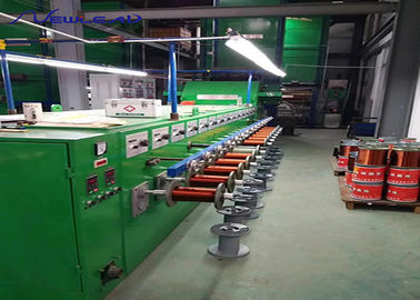 China Drawing Copper Wire Vertical Enamelling Machine Inlet 2.6 To 3.6mm Finished Diameter 1.0 To 2.5mm supplier