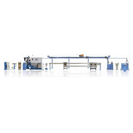 Automatic Cable Coiling Machine For Cable Extrusion Line Coiling Labeling Wrapping All In One