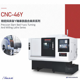 Y - Axis Cnc Turning Machine , Cnc Turning Machine With High Efficiency