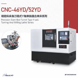 Precision Slant Bed Turret Type Mini Cnc Lathe Machine Y Axis Turning And Milling Series