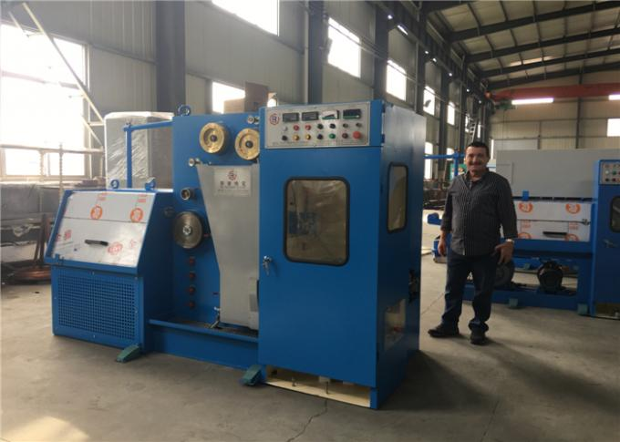 14DT Medium And Fine Wire Drawing Machine With Continuous Resistance Annealer Compact Wire Drawing Line