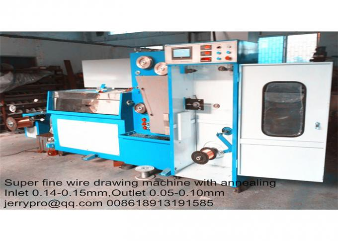 Double Heads Scourer Wire Rod Drawing Machine , High Production Wire Drawing Equipment