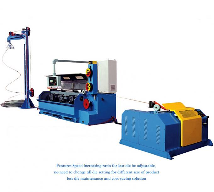 AluminIum Rod Drawing Machine Single Spooler / Double Spooler Down Coiler Options