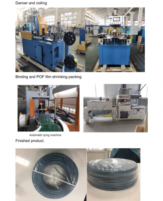 Automatic Automatic Wire Coiling Machine And POF Film Heat Shrink Wrapping Machine