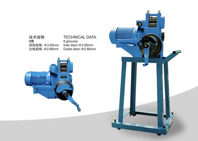 0.66-3.55mm Wire Pointing Machine , Electric Motor Wire Drawing Equipment