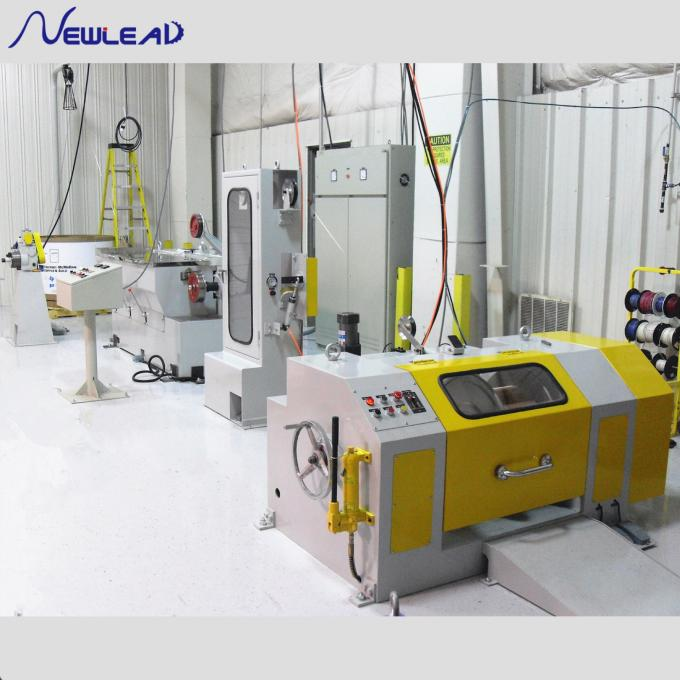 Copper Straight Wire Drawing Machine , Automatic Copper Wire Making Machine For PV Ribbon Rolling 1